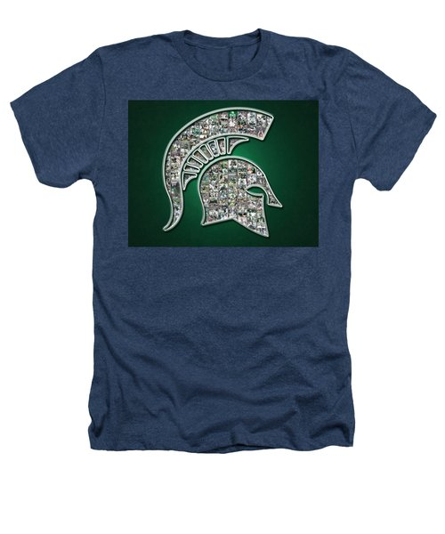 Michigan State Spartans Football Heathers T-Shirt by Fairchild Art Studio