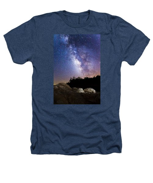 Milky Way Over A Western Diamondback Rattlesnake Heathers T-Shirt by Chuck Brown