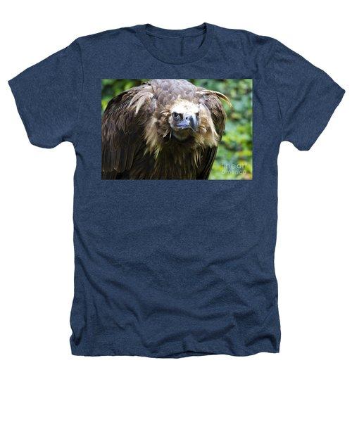 Monk Vulture 3 Heathers T-Shirt by Heiko Koehrer-Wagner