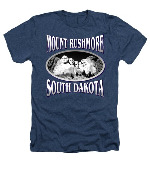 Mount Rushmore South Dakota - Tshirt Design Heathers T-Shirt by Art America Online Gallery