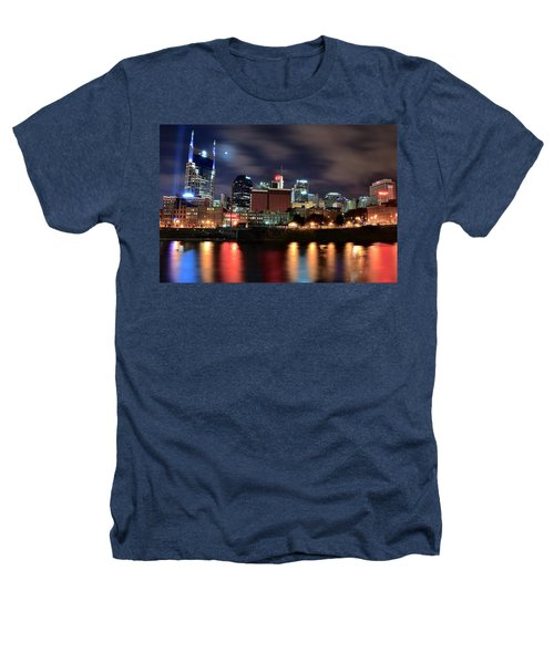 Nashville Skyline Heathers T-Shirt by Frozen in Time Fine Art Photography