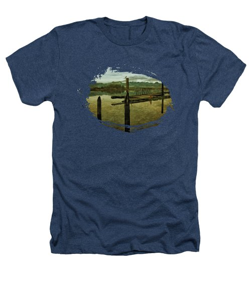Nehalem Bay Reflections Heathers T-Shirt by Thom Zehrfeld