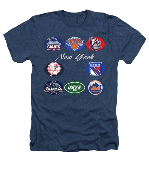 New York Professional Sport Teams Collage  Heathers T-Shirt by Movie Poster Prints