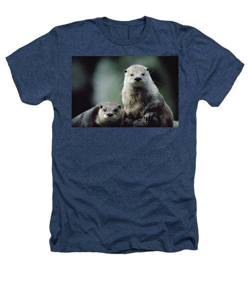 North American River Otter Lontra Heathers T-Shirt by Gerry Ellis