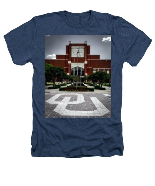 Oklahoma Memorial Stadium Heathers T-Shirt by Center For Teaching Excellence