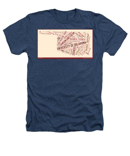 Ou Word Art University Of Oklahoma Heathers T-Shirt by Roberta Peake