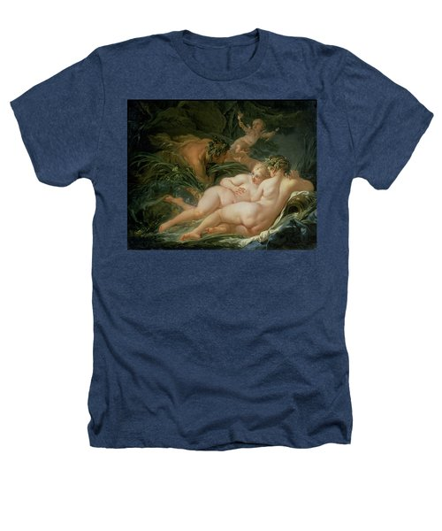 Pan And Syrinx Heathers T-Shirt by Francois Boucher