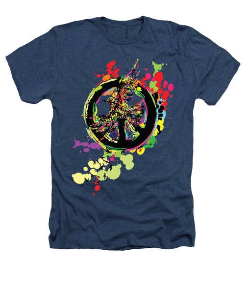 Peace And Peace Heathers T-Shirt by Cindy Shim