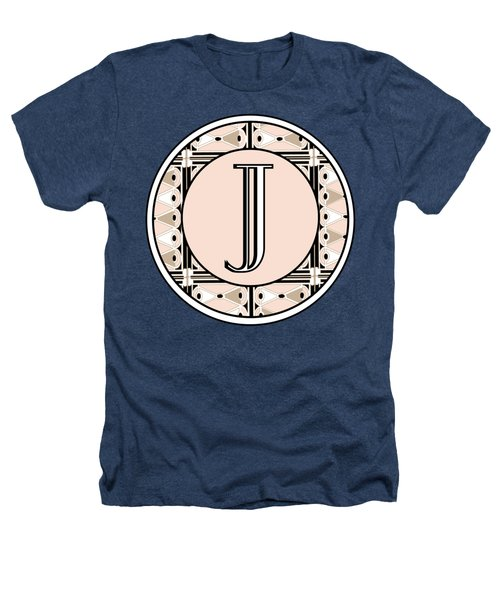 Pink Champagne Deco Monogram  J Heathers T-Shirt by Cecely Bloom