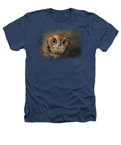 Portrait Of An Eastern Screech Owl Heathers T-Shirt by Jai Johnson