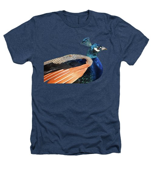 Proud Peacock Heathers T-Shirt by Gill Billington