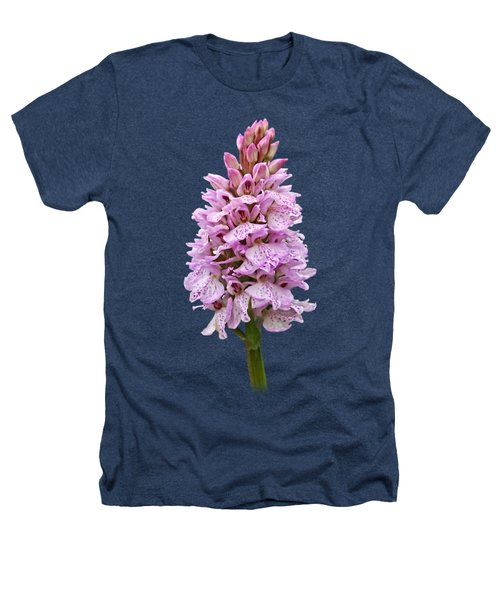 Radiant Wild Pink Spotted Orchid Heathers T-Shirt by Gill Billington