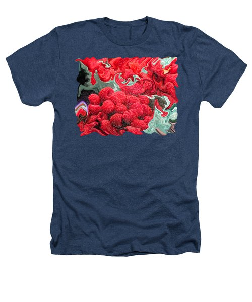 Raspberries Heathers T-Shirt by Kathy Moll