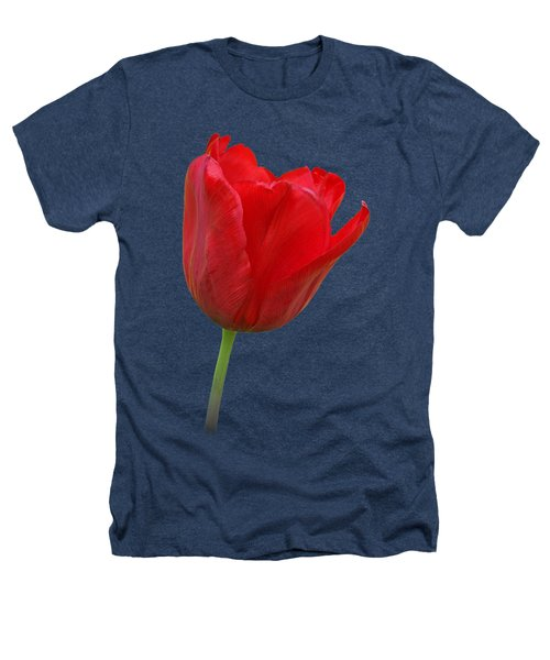 Red Tulip Open Heathers T-Shirt by Gill Billington