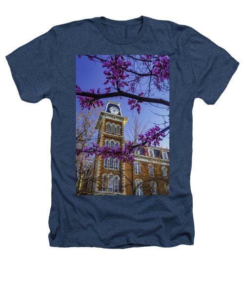 Redbud At Old Main Heathers T-Shirt by Damon Shaw