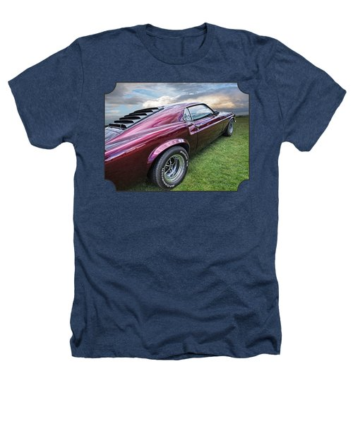 Rich Cherry - '69 Mustang Heathers T-Shirt by Gill Billington