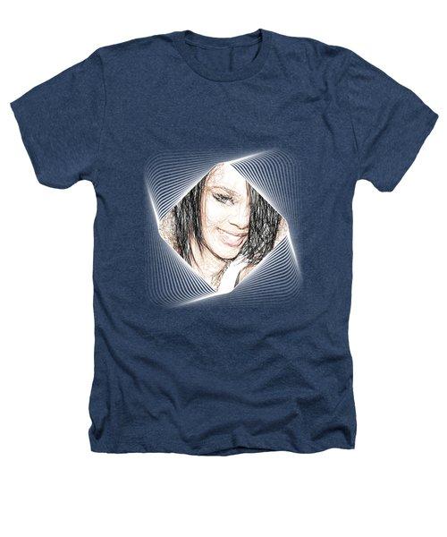 Rihanna - Pencil Art Heathers T-Shirt by Raina Shah