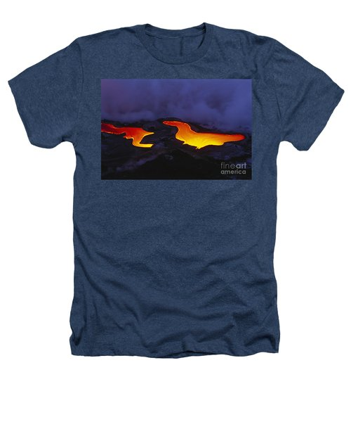 River Of Lava Heathers T-Shirt by Peter French - Printscapes