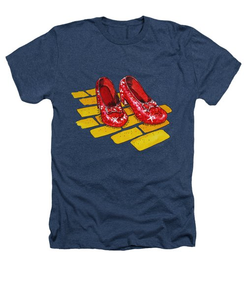 Ruby Slippers From Wizard Of Oz Heathers T-Shirt by Irina Sztukowski