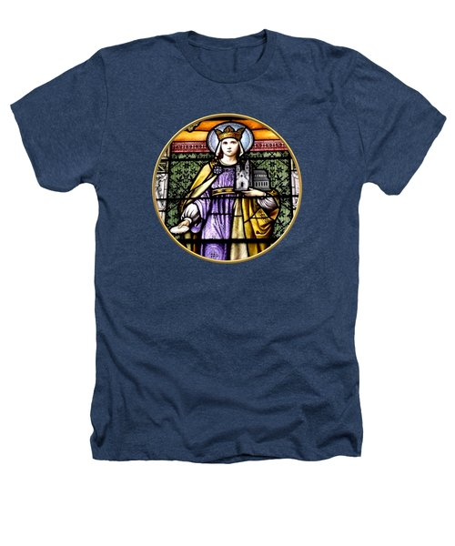 Saint Adelaide Stained Glass Window In The Round Heathers T-Shirt by Rose Santuci-Sofranko