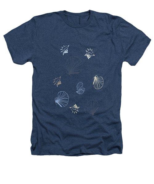 Seashell Pattern Heathers T-Shirt by Christina Rollo
