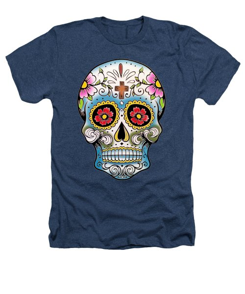 Skull 10 Heathers T-Shirt by Mark Ashkenazi