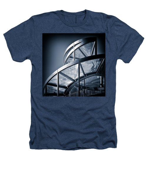 Spiral Staircase Heathers T-Shirt by Dave Bowman