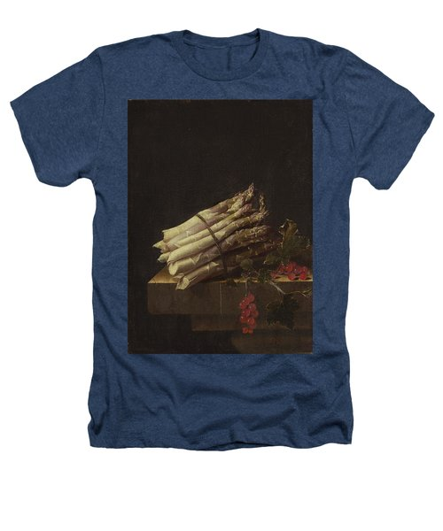 Still Life With Asparagus And Red Currants Heathers T-Shirt by Adriaen Coorte