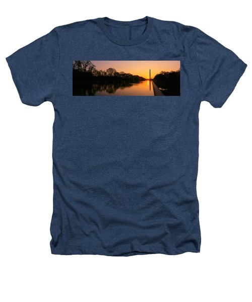 Sunset On The Washington Monument & Heathers T-Shirt by Panoramic Images