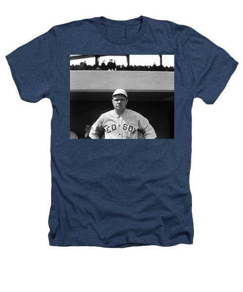 The Babe - Red Sox Heathers T-Shirt by International  Images
