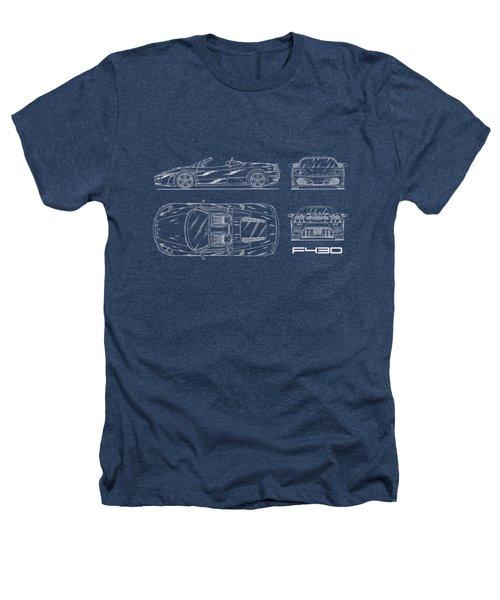 The F430 Blueprint Heathers T-Shirt by Mark Rogan