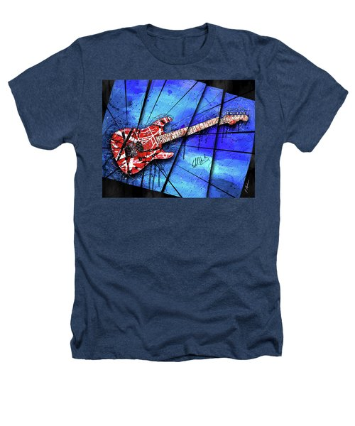 The Frankenstrat On Blue I Heathers T-Shirt by Gary Bodnar