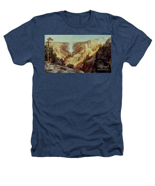 The Grand Canyon Of The Yellowstone Heathers T-Shirt by Thomas Moran