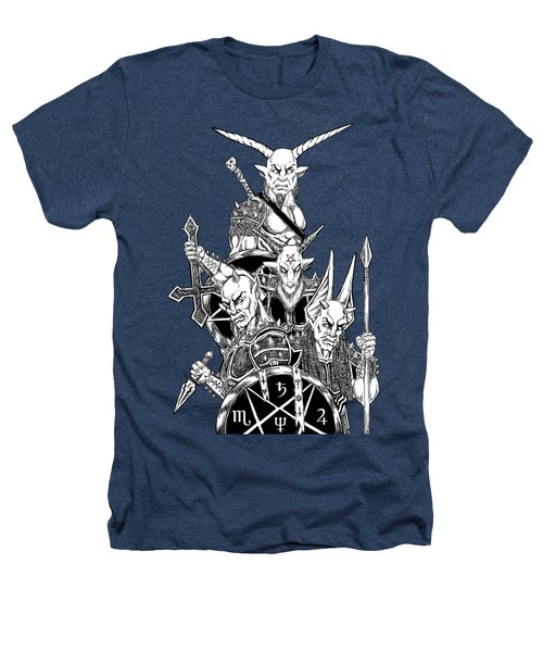 The Infernal Army Black Version Heathers T-Shirt by Alaric Barca