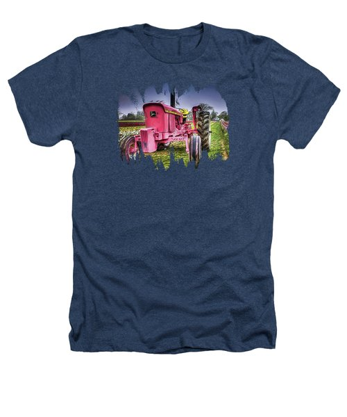 The Pink Tractor At The Wooden Shoe Tulip Farm Heathers T-Shirt by Thom Zehrfeld