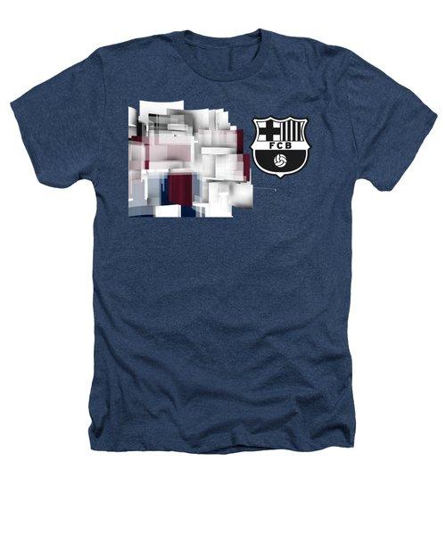 Tribute To Fc Barcelona 7 Heathers T-Shirt by Alberto RuiZ