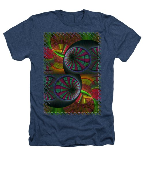 Tunneling Abstract Fractal Heathers T-Shirt by Sharon and Renee Lozen