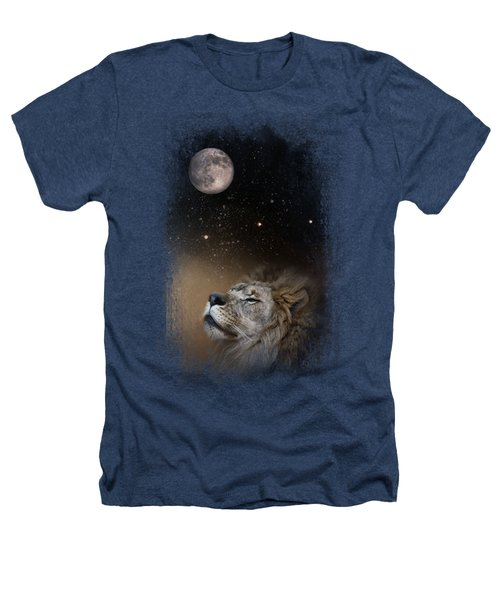 Under The Moon And Stars Heathers T-Shirt by Jai Johnson