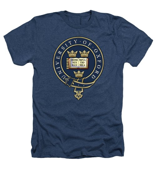 University Of Oxford Seal - Coat Of Arms Over Colours Heathers T-Shirt by Serge Averbukh