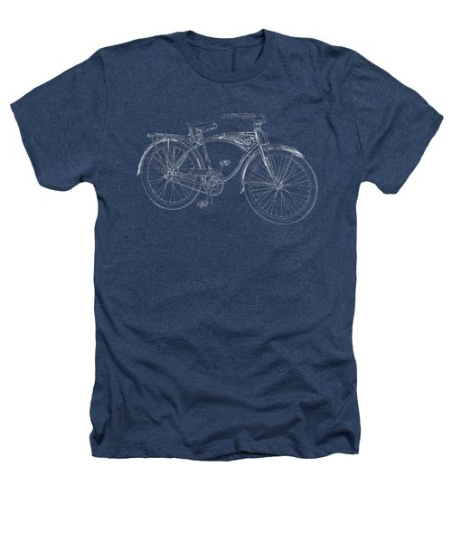 Vintage Bicycle Tee Heathers T-Shirt by Edward Fielding
