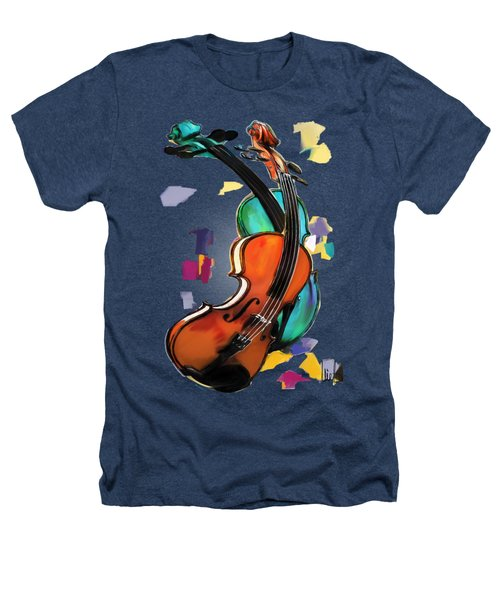 Violins Heathers T-Shirt by Melanie D