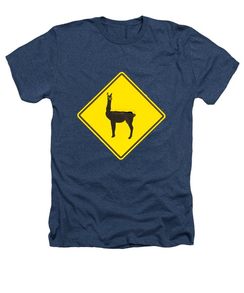 Warning Guanacos Heathers T-Shirt by Mirko Chianucci