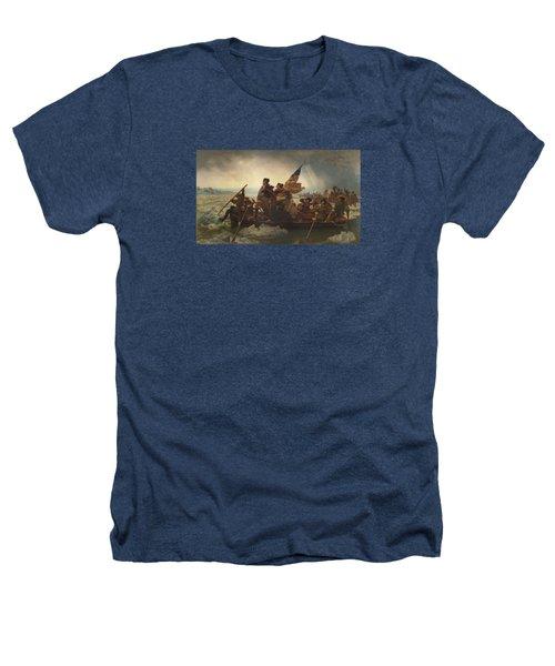 Washington Crossing The Delaware Painting  Heathers T-Shirt by Emanuel Gottlieb Leutze
