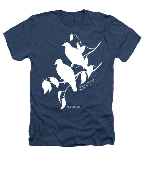 White Doves Heathers T-Shirt by The one eyed Raven