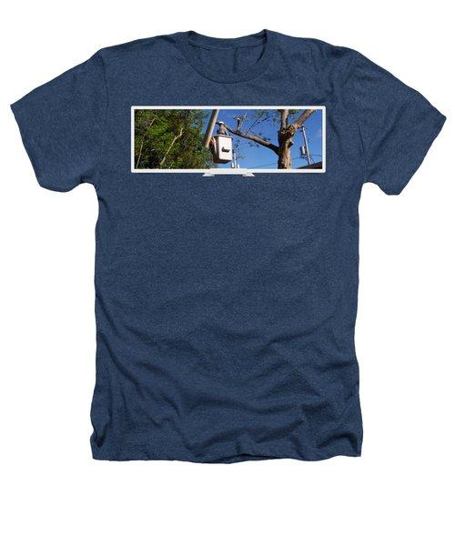 Woodland Tree Service Heathers T-Shirt by Evergreenarborists