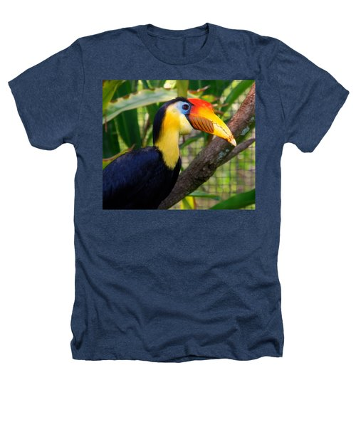 Wrinkled Hornbill Heathers T-Shirt by Susanne Van Hulst