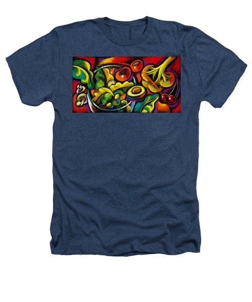 Yammy Salad Heathers T-Shirt by Leon Zernitsky