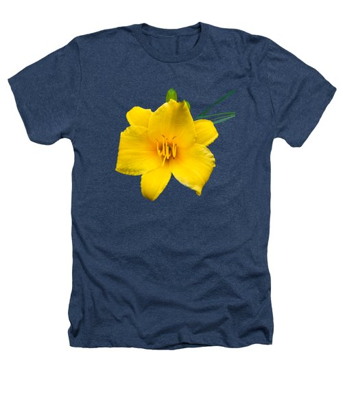 Yellow Daylily Flower Heathers T-Shirt by Christina Rollo