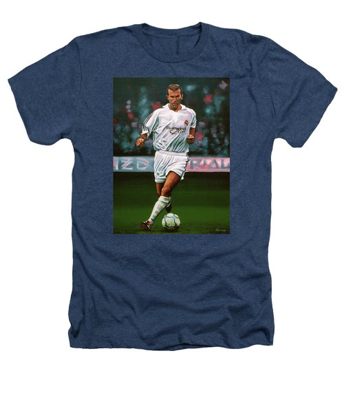Zidane At Real Madrid Painting Heathers T-Shirt by Paul Meijering