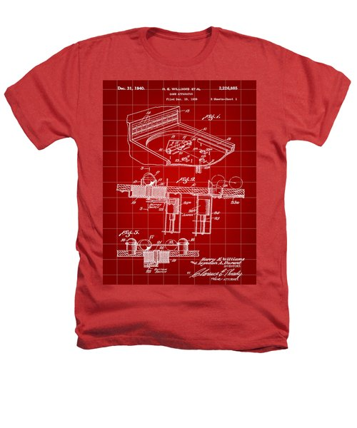 Pinball Machine Patent 1939 - Red Heathers T-Shirt by Stephen Younts